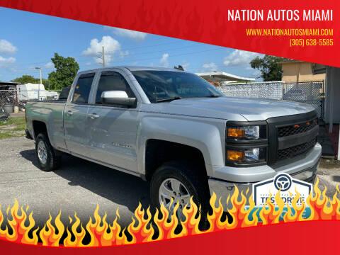2015 Chevrolet Silverado 1500 for sale at Nation Autos Miami in Hialeah FL
