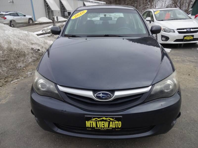 2010 Subaru Impreza for sale at MOUNTAIN VIEW AUTO in Lyndonville VT