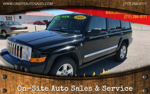 2008 Jeep Commander for sale at On-Site Auto Sales & Service in York PA