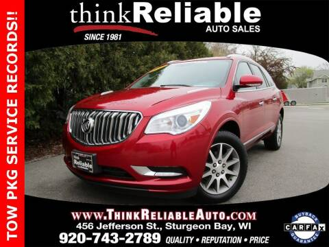 2013 Buick Enclave for sale at RELIABLE AUTOMOBILE SALES, INC in Sturgeon Bay WI