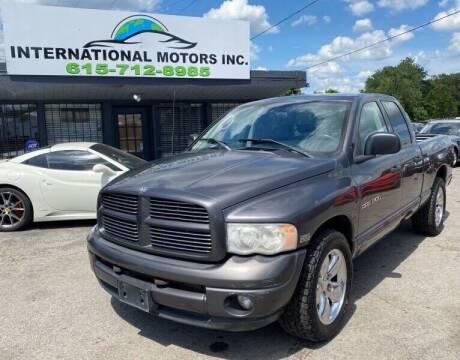 2004 Dodge Ram Pickup 1500 for sale at International Motors & Service INC in Nashville TN