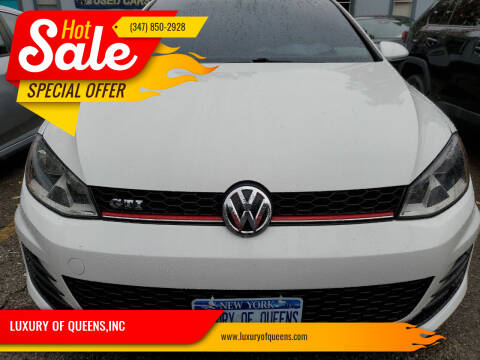 2016 Volkswagen Golf GTI for sale at LUXURY OF QUEENS,INC in Long Island City NY