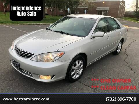 2005 Toyota Camry for sale at Independence Auto Sale in Bordentown NJ