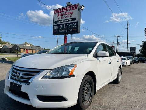 2015 Nissan Sentra for sale at Unlimited Auto Group in West Chester OH
