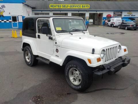 1999 Jeep Wrangler for sale at RTE 123 Village Auto Sales Inc. in Attleboro MA