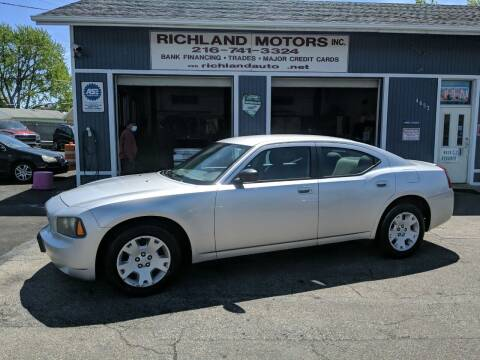 2007 Dodge Charger for sale at Richland Motors in Cleveland OH