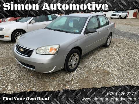 2008 Chevrolet Malibu Classic for sale at Simon Automotive in East Palestine OH