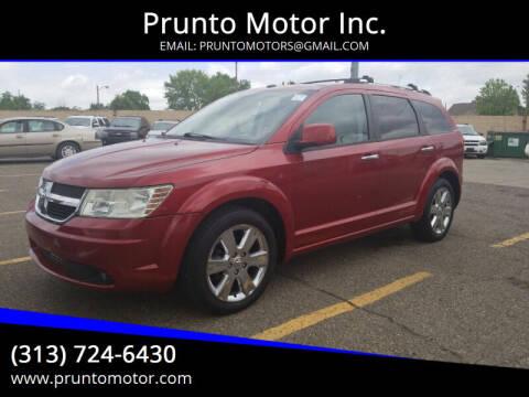 2010 Dodge Journey for sale at Prunto Motor Inc. in Dearborn MI