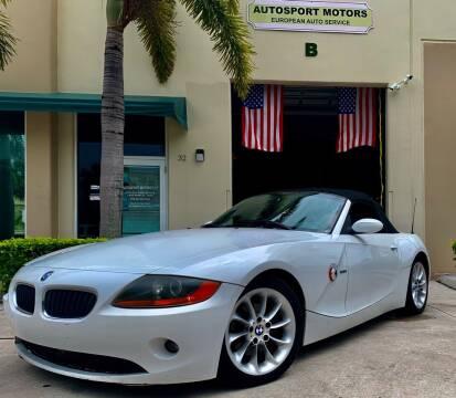 2003 BMW Z4 for sale at AUTOSPORT MOTORS in Lake Park FL