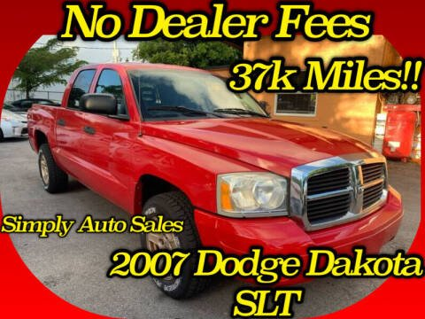 2007 Dodge Dakota for sale at Simply Auto Sales in Palm Beach Gardens FL