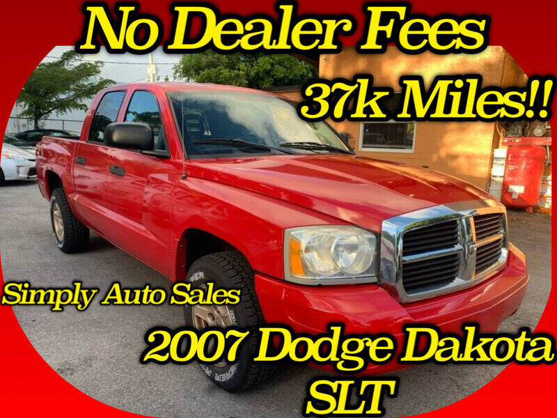 2007 Dodge Dakota for sale at Simply Auto Sales in Palm Beach Gardens FL