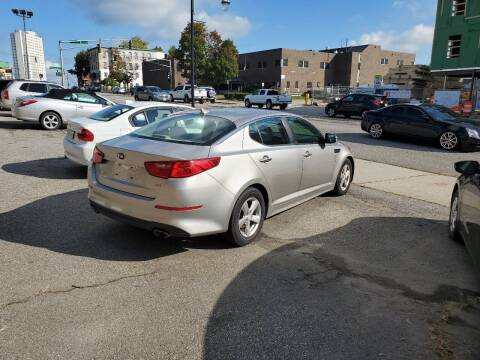 2014 Kia Optima for sale at Beacon Auto Sales Inc in Worcester MA