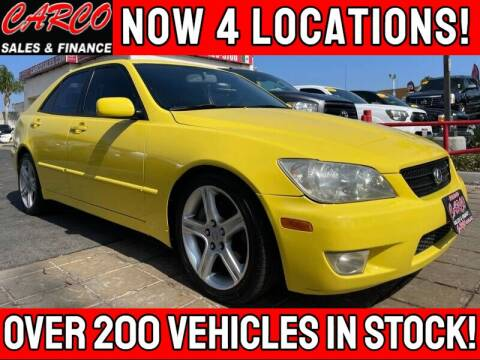 2003 Lexus IS 300 for sale at CARCO SALES & FINANCE #3 in Chula Vista CA