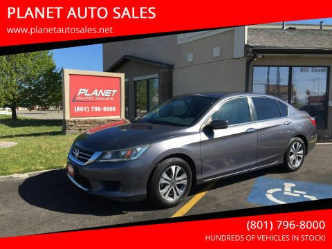 2015 Honda Accord for sale at PLANET AUTO SALES in Lindon UT