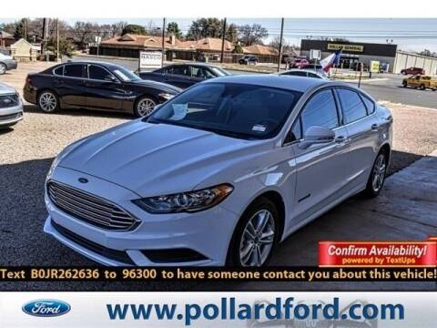 2018 Ford Fusion Hybrid for sale at South Plains Autoplex by RANDY BUCHANAN in Lubbock TX