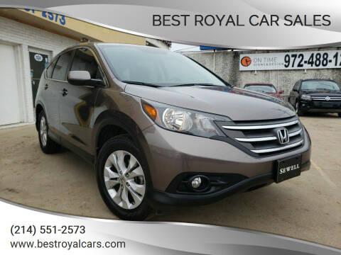2013 Honda CR-V for sale at Best Royal Car Sales in Dallas TX