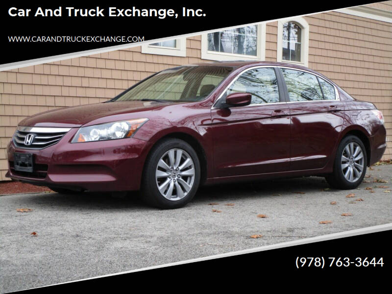 2012 Honda Accord for sale at Car and Truck Exchange, Inc. in Rowley MA