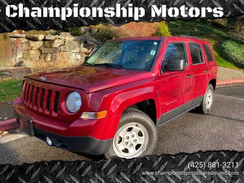 2015 Jeep Patriot for sale at Mudarri Motorsports - Championship Motors in Redmond WA