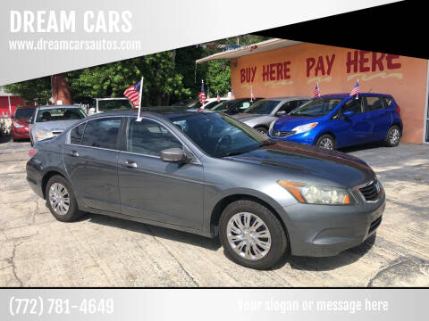 2008 Honda Accord for sale at DREAM CARS in Stuart FL