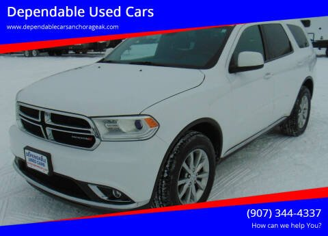 2016 Dodge Durango for sale at Dependable Used Cars in Anchorage AK