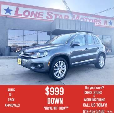2013 Volkswagen Tiguan for sale at LONE STAR MOTORS II in Fort Worth TX