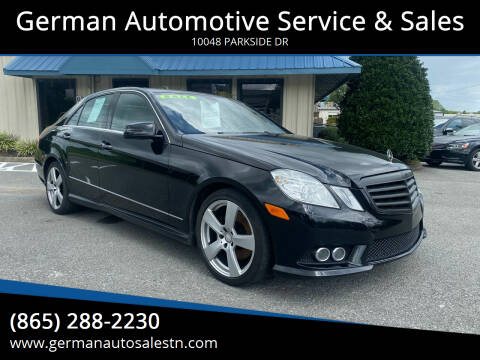 2010 Mercedes-Benz E-Class for sale at German Automotive Service & Sales in Knoxville TN