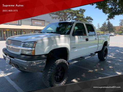 Chevrolet Silverado 2500 For Sale In Salinas Ca Supreme Autos