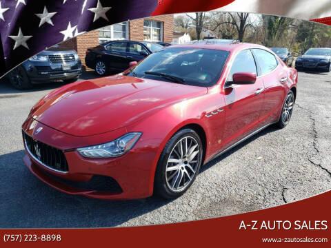 2015 Maserati Ghibli for sale at A-Z Auto Sales in Newport News VA