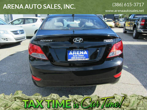 2013 Hyundai Accent for sale at ARENA AUTO SALES,  INC. in Holly Hill FL