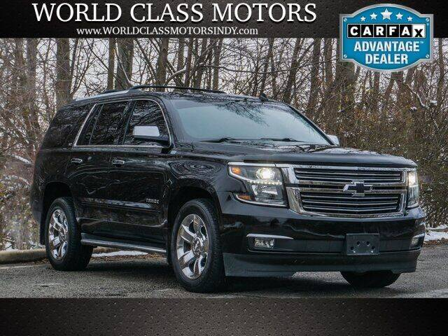 2015 Chevrolet Tahoe for sale at World Class Motors LLC in Noblesville IN