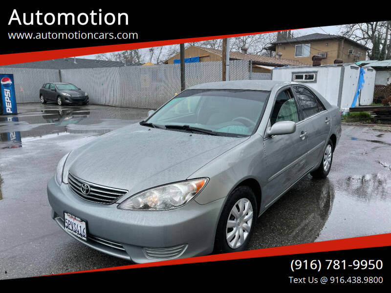 2005 Toyota Camry for sale at Automotion in Roseville CA