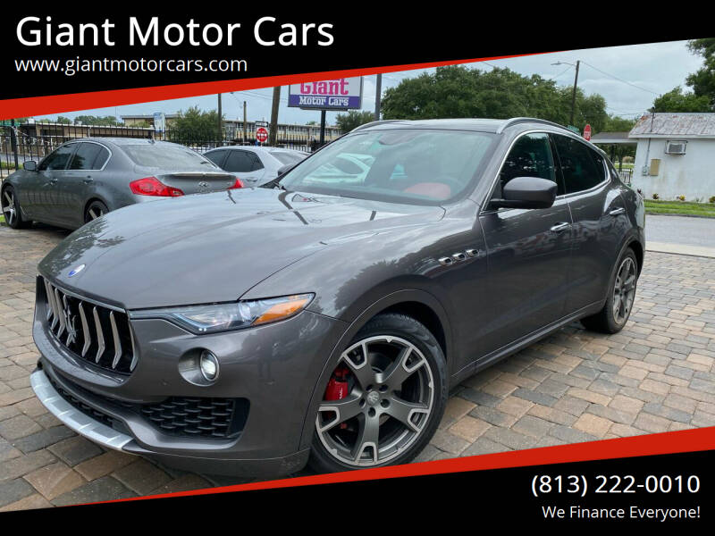 2017 Maserati Levante for sale at Giant Motor Cars in Tampa FL