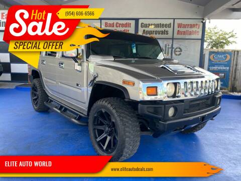 2003 HUMMER H2 for sale at ELITE AUTO WORLD in Fort Lauderdale FL