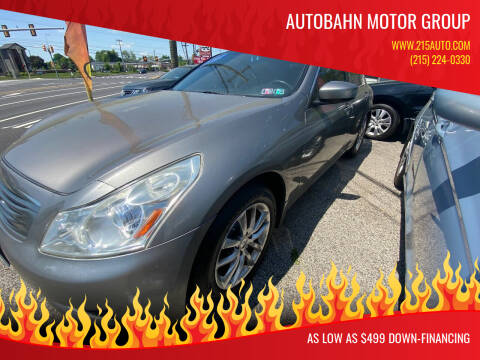 2009 Infiniti G37 Sedan for sale at Autobahn Motor Group in Willow Grove PA