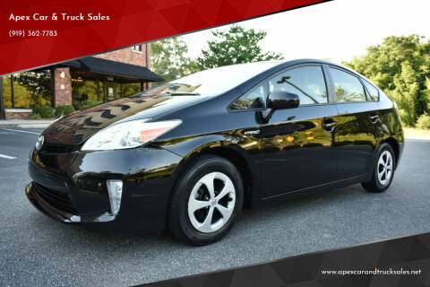 2014 Toyota Prius for sale at Apex Car & Truck Sales in Apex NC