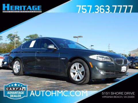 2013 BMW 5 Series for sale at Heritage Motor Company in Virginia Beach VA