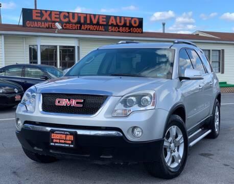 2009 GMC Acadia for sale at Executive Auto in Winchester VA