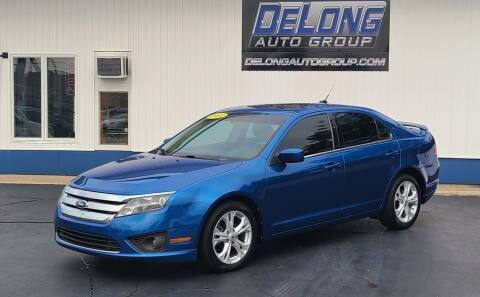 2012 Ford Fusion for sale at DeLong Auto Group in Tipton IN