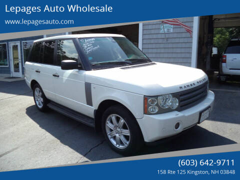 2008 Land Rover Range Rover for sale at Lepages Auto Wholesale in Kingston NH