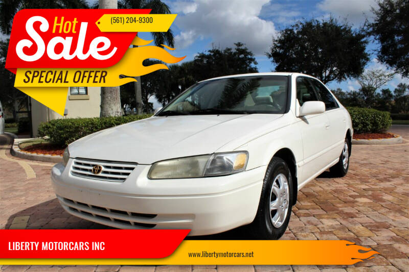 1998 Toyota Camry for sale at LIBERTY MOTORCARS INC in Royal Palm Beach FL