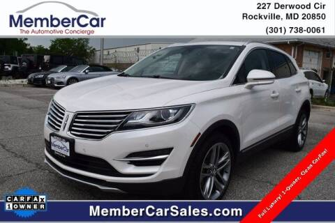 2018 Lincoln MKC for sale at MemberCar in Rockville MD