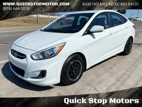 2015 Hyundai Accent for sale at Quick Stop Motors in Kansas City MO