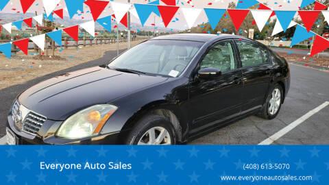 2004 Nissan Maxima for sale at Everyone Auto Sales in Santa Clara CA