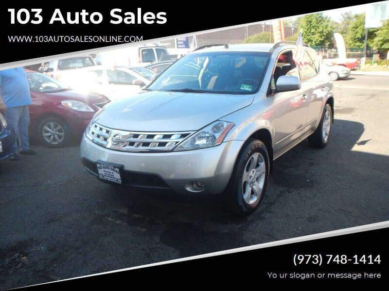 2003 Nissan Murano for sale at 103 Auto Sales in Bloomfield NJ
