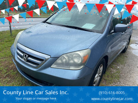 2006 Honda Odyssey for sale at County Line Car Sales Inc. in Delco NC