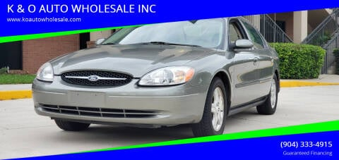 2001 Ford Taurus for sale at K & O AUTO WHOLESALE INC in Jacksonville FL