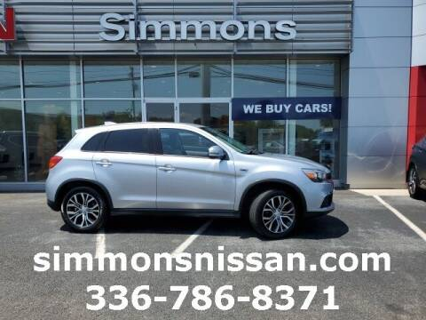 2017 Mitsubishi Outlander Sport for sale at SIMMONS NISSAN INC in Mount Airy NC