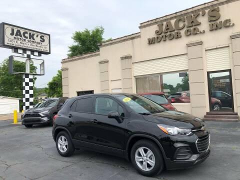 2021 Chevrolet Trax for sale at JACK'S MOTOR COMPANY in Van Buren AR