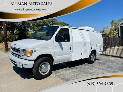 2002 Ford E-Series Cargo for sale at ALLMAN AUTO SALES in San Diego CA