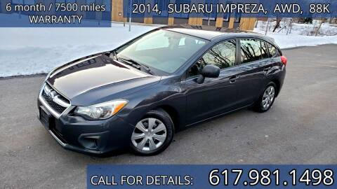 2014 Subaru Impreza for sale at Wheeler Dealer Inc. in Acton MA